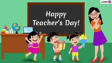 Happy Teacher's Day 2020 Greetings: WhatsApp Stickers, GIF Images, Messages, Quotes and SMS to Send Wishes to Your Guru