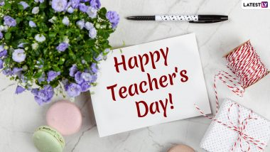 Happy Teachers' Day 2019 Greeting Cards: WhatsApp Stickers, GIF Images, Messages, Instagram Captions and Twitter Posts to Wish Your Gurus
