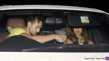 Disha Patani and Tiger Shroff Don't Care About the Heavy Rains as They Continue With Their Romantic Dinner Date (View Pics)