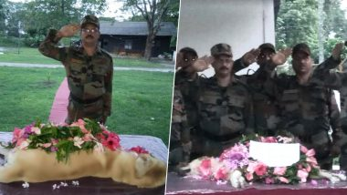 Indian Army Pays Beautiful Tribute to Service Dog Dutch Who Passed Away, Calls Him 'Real Hero', Check Pics