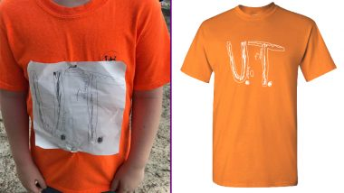 University of Tennessee Aspirant Was Bullied for His UT DIY T-shirt, Now His Drawing Is an Official School Logo