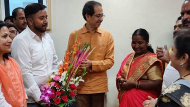 KBC 11 Crorepati Babita Tade Honoured by Shiv Sena Chief Uddhav Thackeray