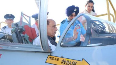 Rajnath Singh Visits Hamamatsu Air Base in Japan, Briefed on F-15 Fighter Jets and Kawasaki Trainer Plane