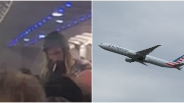 American Airlines Flight Makes Emergency Landing After Unruly Man Lights a Joint Scaring Passengers (Watch Video)