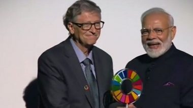 Narendra Modi Receives 'Global Goalkeeper Award' For Swachh Bharat Mission From Bill And Melinda Gates Foundation