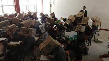Mexico Teacher Forces Students to Wear Cardboard Boxes on Heads to Prevent Cheating During Exams, Faces Flak