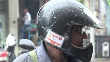 Motor Vehicle Amendment Act 2019: Vadodara Man Pastes All Documents Related to His Royal Enfield on Helmet to Avoid Fine, View Pics
