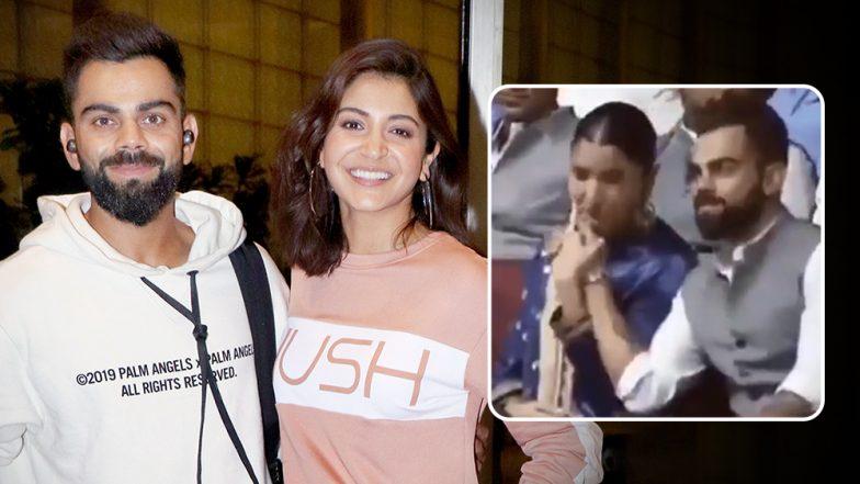 Anushka Sharma Kisses Virat Kohli's Hand at a Cricket Event and We Can Hear 'Rab Ne Bana Di Jodi' Playing in Our Ears (Watch Video)
