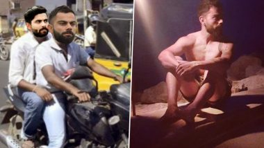 Virat Kohli Funny Memes Go Viral! His Bare-Chested Photo Used to Poke Fun at Falling Economy and Heavy Fine Due to New Traffic Rules