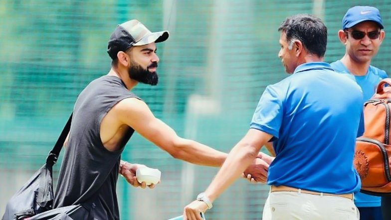Virat Kohli Greets Rahul Dravid With a Handshake in Bengaluru Ahead of India vs South Africa 3rd T20I Match, See Instagram Post