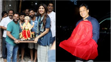 Ganesh Chaturthi 2019: Bollywood Actors Shilpa Shetty, Vivek Oberoi Welcome Lord Ganesha at Their Home - See Pics