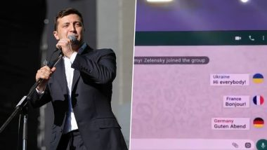 'If World Leaders Have a WhatsApp Group' Presentation Video of Ukrainian President Zelensky With His Comic Troupe From YES Ukraine 2019 Conference Goes Viral