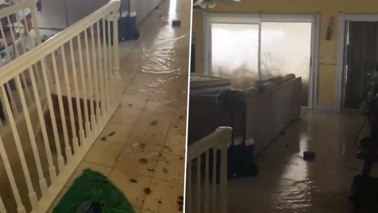 Hurricane Dorian Makes Waves Crash Against Second-Floor Bedroom in the Bahamas (Netizens Freak Out Watching Viral Video)