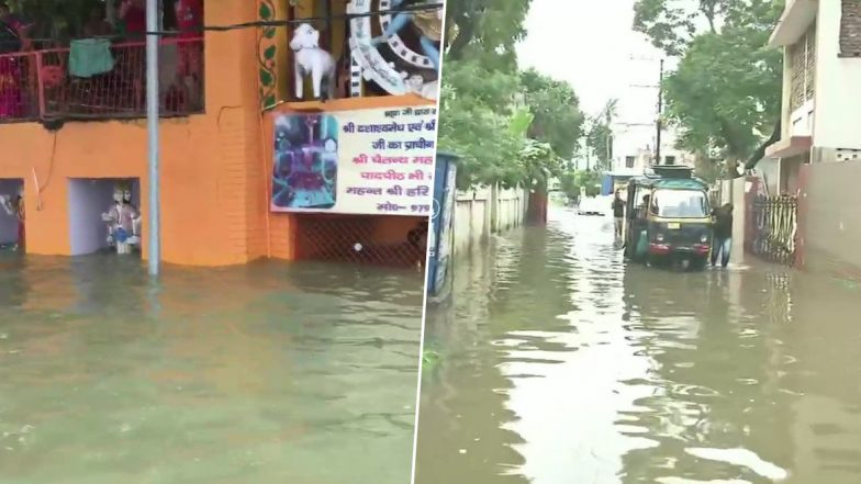 Monsoon 2019 Mayhem: Incessant Rains Cause Flood-Like Situation in Parts of UP, Bihar; Heavy Rainfall Likely in Madhya Pradesh Today, Red Alert in Mumbai For Tomorrow
