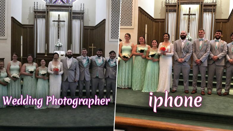 American Couple's Wedding Photographs Looked So Dull That iPhone Pictures Saved the Day (See Pictures)
