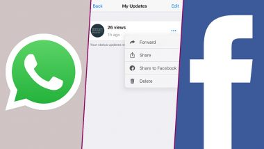 How to Share WhatsApp Status Updates as Facebook Stories; Social Media Platform Rolls Out Feature For iOS and Android Users