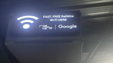 Free Wifi at Indian Railway Stations: Tinsukia Junction Becomes India's 400th Station to Have Cashless Internet