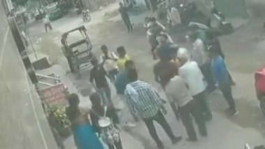 Delhi Woman Thrashes Chain Snatcher in Nangloi, CCTV Footage Goes Viral