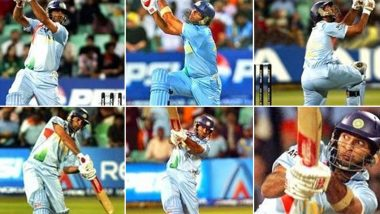 Yuvraj Singh Hit Six Sixes in a Row on This Day During IND vs ENG ICC T20 World Cup 2007 Match, Throwback Post Shared by BCCI (View Pic & Video)