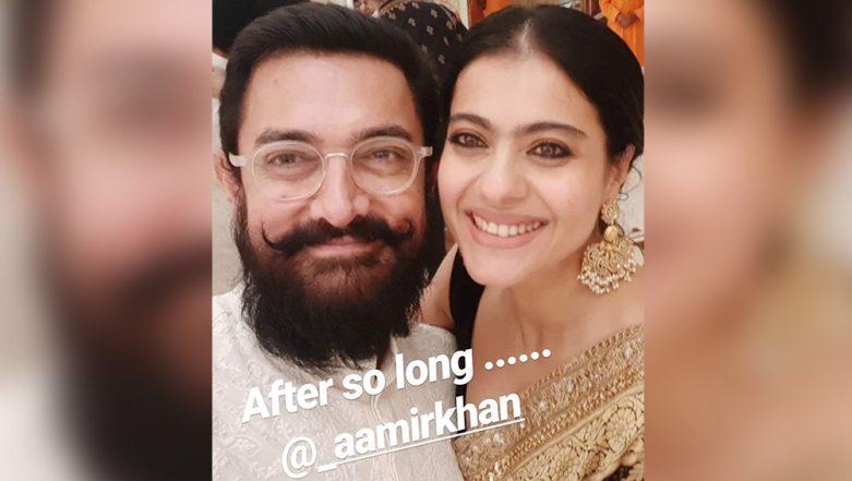 Fanaa Reunion: Aamir Khan and Kajol Click a Selfie Together at Mukesh Ambani's Ganesh Chaturthi Celebrations