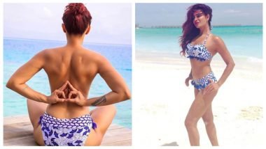 Aashka Goradia Posts Another Topless Picture Practicing Nude Yoga and Giving Fitness Goals!