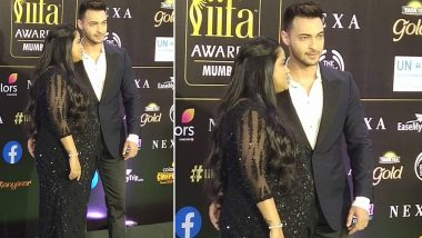 IIFA Awards 2019: Aayush Sharma  and Arpita Sharma Confirm Pregnancy Rumours as Latter Flaunts Baby Bump With Style (View Pics)