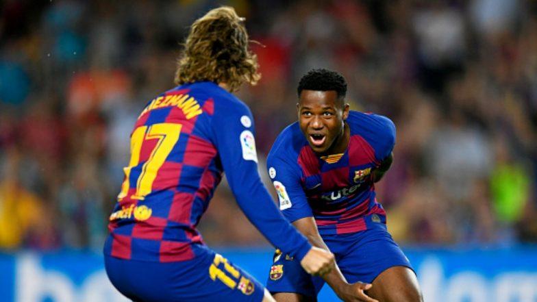 Ansu Fati Scripts History With a Goal & Assist During Barcelona vs Valencia, La Liga 2019-20 (Watch Video)