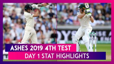 Ashes 2019 4th Test, Day 1 Stat Highlights: Mitchell Marsh Takes Four-Fer, Jos Buttler Scores Fifty