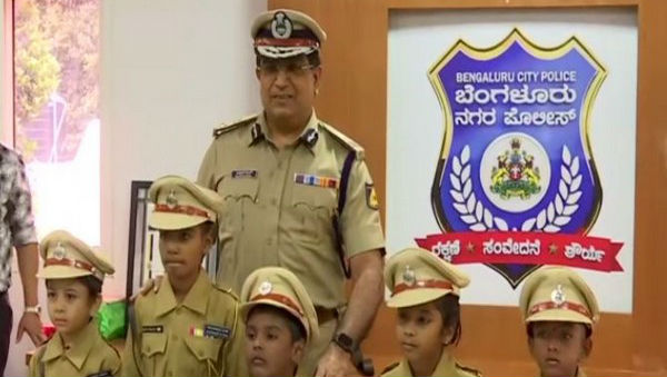 Bengaluru: Five Children Take Charge as City's Top Cop for a Day!