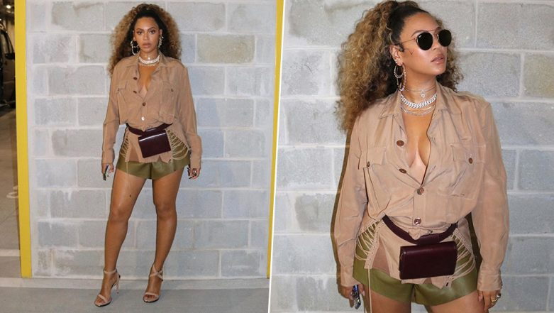 Beyonce Is Unmissable as She Flaunts Her Cleavage and Toned Legs for 38th Birthday! (View Pics)