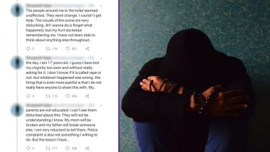 Teenaged Boy Raped in Public Toilet, Narrates Horrific Incident on Twitter Saying 'Even Boys Not Safe'