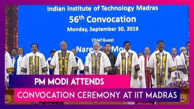 PM Narendra Modi Attends 56th Convocation Ceremony Of IIT Madras