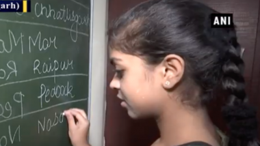 Inspired by '3 Idiots', Raipur-Based Teenage Girl Kavya Chawda Perfects Mirror Writing (Watch Video)