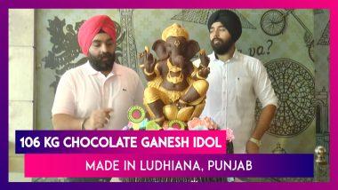 Ludhiana Restaurateur Makes 106 Kg Chocolate Ganesh Idol, Aims To Promote Eco-Friendly Ganpati Idols