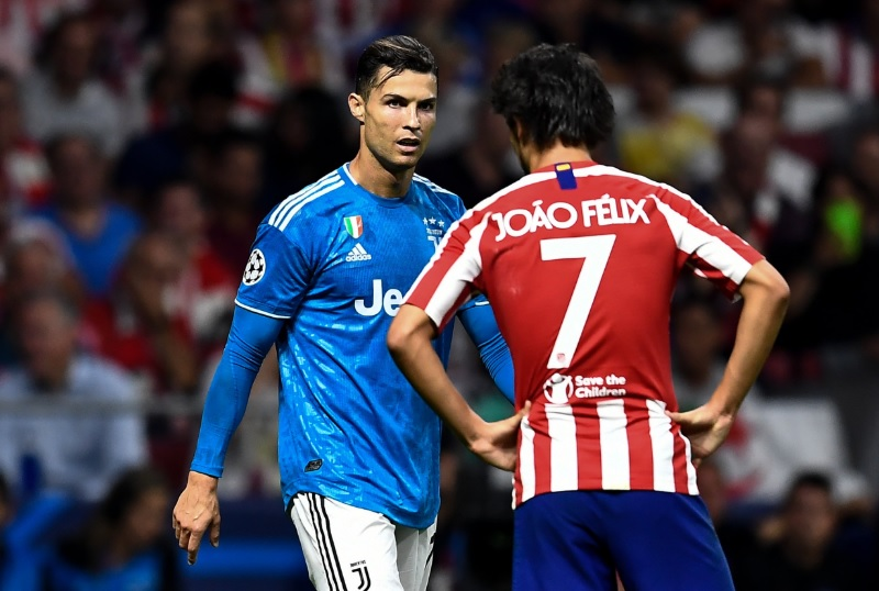Cristiano Ronaldo Shares a Warm Moment with Joao Felix Ahead of Atletico Madrid vs Juventus, UCL 2019 Will Melt Your Heart (Watch Video)