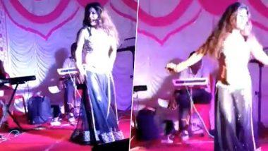 Mumbai Bar Dancers Perform During Ganesh Puja Celebration at Nandurbar Railway Station, Watch Video