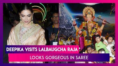Deepika Padukone Visits Lalbaugcha Raja To Seek Lord Ganesha's Blessing, Looks Gorgeous In Saree