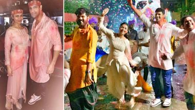 Divyanka Tripathi and Husband Vivek Dahiya Bid Adieu to Bappa, Dance Their Heart Out at Ganpati Visarjan (Watch Video)