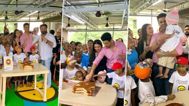 Divyanka Tripathi and Vivek Dahiya Spend Quality Time With Children Suffering From Cancer (View Pics)