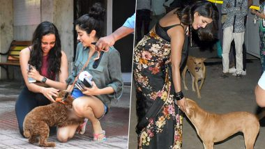From Janhvi Kapoor to Priyanka Chopra, Is Petting a Dog The New Photo-Op Trend in Bollywood? (View Pics)