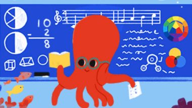 Teachers' Day 2019 Google Doodle: Search Engine Honours All Educators With a Cute Animated Octopus