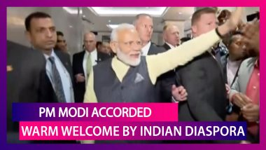PM Narendra Modi Receives Warm Welcome By Indian Diaspora In New York After 'Howdy, Modi' Event
