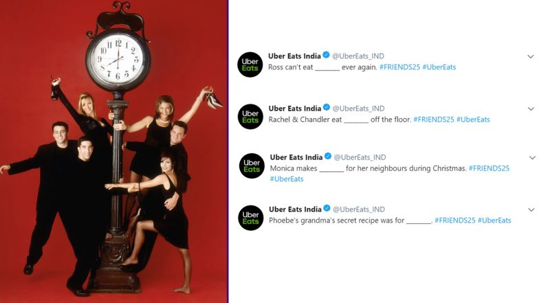 Friends 25th Anniversary Special: Uber Eats India Celebrates 25 Years of the Iconic Show With a Quirky Quiz, Answer If You Have Got UNAGI!