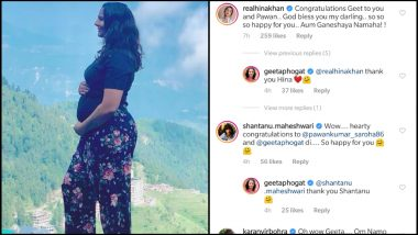 Geeta Phogat Announces Pregnancy; Hina Khan, Nia Sharma, Shantanu Maheshwari Cheer for Her (See Pics)