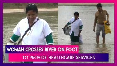 Chhattisgarh: Woman Crosses River On Foot To Provide Healthcare Services To Locals In Balrampur