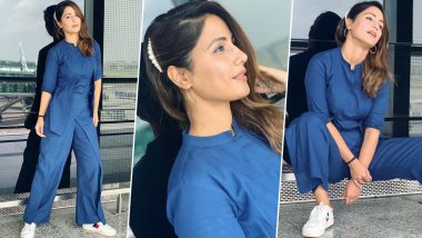 Hina Khan's Monochrome Outfit Is a Perfect Blend of Comfy and Chic (View Pics)