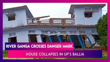 House Collapses In UP's Ballia As Water Level In River Ganga Crosses The Danger Mark