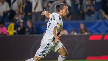 Zlatan Ibrahimovic's Hat-Trick Propels LA Galaxy Register 7-2 Victory Against Sporting KC; Ibra Sets a New Record in MLS (Watch Video)