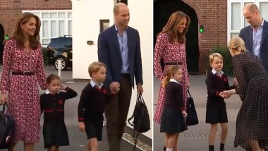 Princess Charlotte's First Day at School! Kensington Palace Shares Adorable Video of the Royal Tot Arriving at School With Kate Middleton, Prince William and George