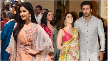 Ranbir Kapoor, Alia Bhatt and Katrina Kaif Come Under One Roof to Celebrate Ganesh Chaturthi 2019 (See Pics)